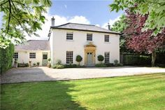 5 bedroom detached house for sale in Lacock Road, Corsham, Wiltshire, - Rightmove. Modern Farmhouse Exterior, Country Farmhouse Decor, Farmhouse Ideas, Future House, Rendered Houses, House Designs Ireland, Georgian Style Homes, English House, Dream House Exterior