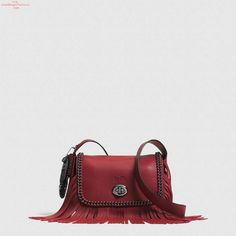 The Dakotah Small Fringe Flap Crossbody In Whiplash Leather from Coach. I need this. Cheap Handbags, Coach Handbags, Coach Purses, Mini Handbags, My Style Bags, Cheap Coach Bags, Zapatos Shoes, Coach Outlet, Beautiful Handbags