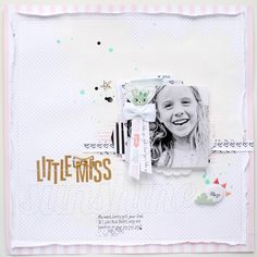 #papercrafting #scrapbook #layouts: LITTLE MISS SUNSHINE scrapbook layout by Suse Fish