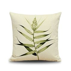 Leaf Cotton Linen Throw Pillow Cover Home Decorative Pillowcase Cushion Cover Linen Pillows, Cotton Pillow, Cotton Linen, Decorative Pillow Cases, Decorative Cushions, Small Yellow Flowers, Fresh Flowers, Beautiful Flowers, Pillow Room