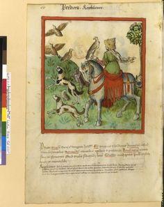 Tacuinum Sanitatis - BNF Ms. Latin 9333 Date: Rhineland, mid- 15th century.  fol 65v Rebhühner
