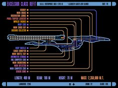 ICARS Schematic of the Excelsior-class Enterprise NCC-1701 B