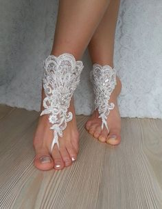 Items similar to ivory Barefoot , french lace sandals, wedding anklet, Beach wedding barefoot sandals, embroidered sandals. Barefoot Wine, Barefoot Wedding, Barefoot Girls, Bare Foot Sandals, Beach Sandals, Wedding Advice, Wedding Ideas, Sandals Wedding, Womens Summer Shoes