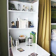 Save on Space by Turning a Bookcase into a Desk! Here's How!...»#ProudestDIY