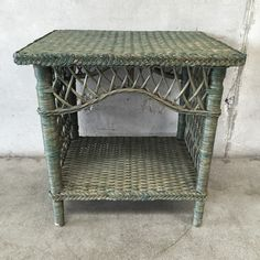 Urban Americana is a used furniture store in Long Beach, CA specializing in vintage decor and antique furniture including mid-century, danish modern and more. Vintage Green, Vintage Decor, Wicker Table, Danish Modern, Antique Furniture, Entryway Tables, Mid Century, Antiques, Home Decor