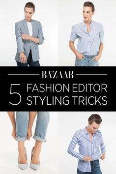 Styling ideas- except I can never get behind the half tuck