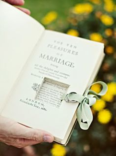 just in case. How To Have The Best Literary Wedding Ever Wedding Story, Wedding Book, Our Wedding, Dream Wedding, Wedding App, Cabin Wedding, Private Wedding, Wedding Rings, Library Themes