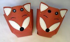 Red Foxes Roller Derby skate toe guards in natural by RedRage77, £23.00