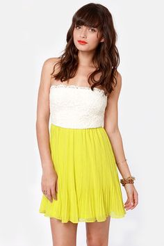 www.lulus.com/products/tulip-temptations-strapless-chartreuse-dress/77138.html