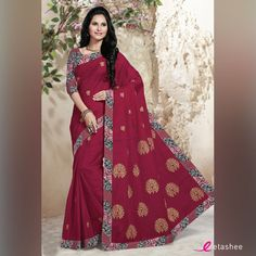 The love for yourself will pull you to these designs and you would not be able to resist,designs like these lovely coloured #sarees.