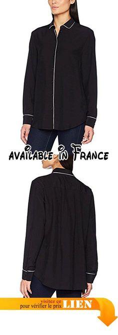 B0725YNVDX : Seidensticker Fashion-Bluse 1/1-Lang Blouse Femme Schwarz (Schwarz 39) 38.
