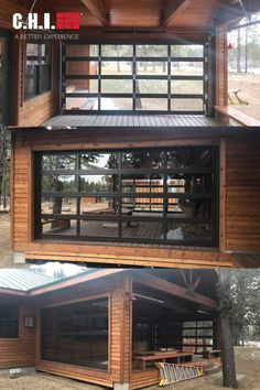 These homeowners enclosed their deck with four Full-View Aluminum doors! A creative way to get more use out of your outdoor space. Installed by Central Oregon Garage Door.