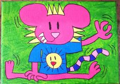 CHEESE POSING AS USUAL, 2015. Acrylic on canvas, created at Creative Response.