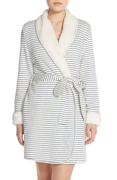Love this striped faux shearling robe