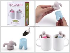 Tea Lovers Infuser Set...so cute for a couple who drinks tea together! Such a unique gift for Valentine's Day💘 Find it here: http://amzn.to/2ju0fC3