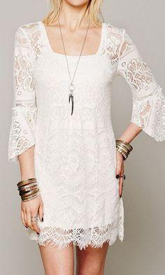 Lace Empire Waist Dress