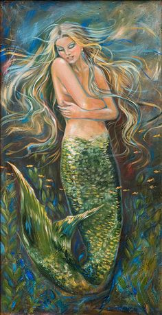 Shop for mermaid art from the world's greatest living artists. All mermaid artwork ships within 48 hours and includes a money-back guarantee. Choose your favorite mermaid designs and purchase them as wall art, home decor, phone cases, tote bags, and more! Mermaid Artwork, Mermaid Drawings, Mermaid Paintings, Fantasy Mermaids, Mermaids And Mermen, Fantasy Creatures, Mythical Creatures, Mermaid Pictures, Mermaid Images