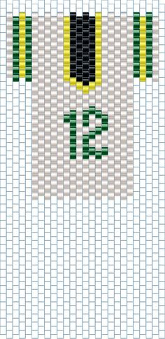 Today, 12 -12-12, is Aaron Rodgers Day in Wisconsin. Probably all over the world if you are a Football fan.  Here is a beaded Packer Jersey - peyote stitch.