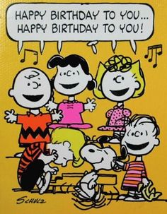 """"""" from Charlie Brown, Snoopy, & the Whole Peanuts Gang! Happy Birthday Messages, Happy Birthday Quotes, Happy Birthday Images, Happy Birthday Greetings, Snoopy Birthday Images, Peanuts Happy Birthday, Birthday Memes, Happy Birthday Charlie Brown, Singing Happy Birthday"""