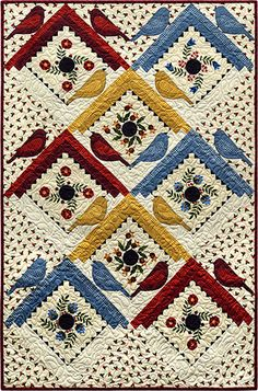 Baltimore Birdhouses Flannel Quilt Kit at www.pineneedlequiltshop.com