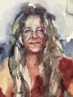 retrato en acuarela de Laura Castilla