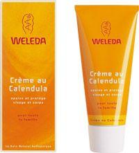 Crème au Calendula de #weleda // Elle s'utilise en soin quotidien, pour le visage et le corps, et convient à toute la famille, pour protéger la peau des agressions extérieures et en cas de conditions climatiques difficiles (vent, froid…).