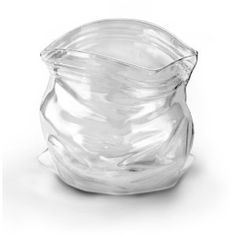 Fred and Friends Unzipped-Bag-Shaped Hand-Blown Glass Bowl