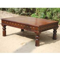 arizona leather spanish style coffee table | leather furniture