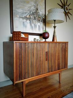 Mid-Century RCA Victor Stereo Cabinet - resembles an old upright ...