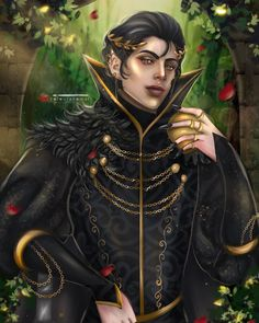 """Angelika Nidua Buergo on Instagram: """"Cardan Greenbriar (Swipe for full view) Character from @blackholly The Cruel Prince Just a little redraw of my previous Cardan piece 😊…"""""""