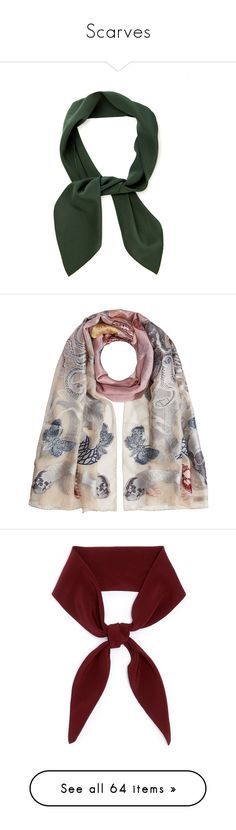 """Scarves"" by kikekiko ❤ liked on Polyvore featuring accessories, scarves, silk scarves, pure silk scarves, silk shawl, multicolored, alexander mcqueen scarves, multi colored scarves, alexander mcqueen shawl and embroidered scarves"
