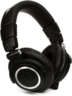 Closed-back Circumaural Headphones with Collapsible Design, 45mm Neodymium Magnet Drivers, Detachable Cables, 1/4