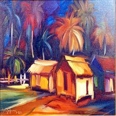 'Paisaje' by Dominican Republic artist Guillo Pérez (1923-2014).