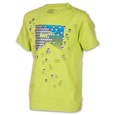 Boys' Nike Scattered Cubes T-Shirt| FinishLine.com | Bright Citrus