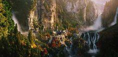 Sagas de Literatura Fantástica: Tolkien y La Tierra Media Tolkien, Saga, Middle Earth, Lord Of The Rings, The Hobbit, Wander, Waterfall, Painting, Outdoor