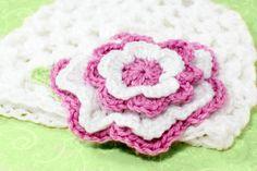 Multi Layered Flower Crochet Pattern via Hopeful Honey