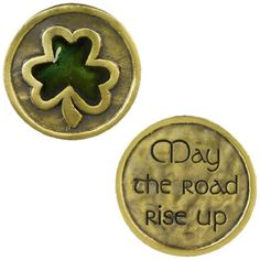 """Grasslands Road Celebrating Heritage Celtic Shamrock  Pocket Coin """"May the Road Rise Up"""" * Learn more by visiting the image link."""