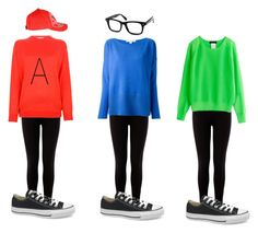 """""""Alvin and The Chipmunks Halloween costume"""" by ayeekaybay ❤ liked on Polyvore featuring Warehouse, Diane Von Furstenberg, STELLA McCARTNEY, Armani Jeans and Converse"""