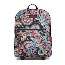 Lighten Up Rolling Backpack in Parisian Paisley | Vera Bradley