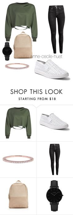 """""""..."""" by anne-cecile-huet on Polyvore featuring mode, WithChic, Steve Madden, Argento Vivo, H&M et CLUSE"""