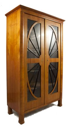 Biedermeier Glass Cabinet | From a unique collection of antique and modern cabinets at https://www.1stdibs.com/furniture/storage-case-pieces/cabinets/