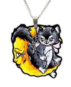 Image of Luna Kitten Necklace by Ella Mobbs