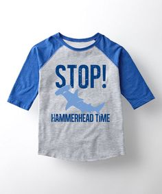 Look at this #zulilyfind! Athletic Heather & Royal 'Hammerhead' Raglan Tee - Toddler & Kids #zulilyfinds