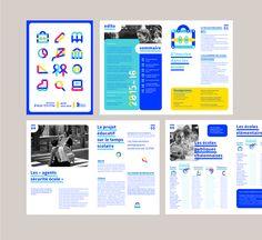 Visual identity of the Education Department of Chalon-sur-Saône Identity Design, Brochure Design, Visual Identity, Brand Identity, Design Agency, Album Design, Book Design, Programme Design, Illustrator