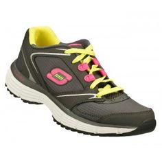 $55.00  Skechers RewindAgility Athletic Shoe - Gray, Yellow, Lime Green - Infinity Scrubs of AR
