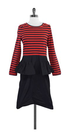 Marc by Marc Jacobs Navy & Red Striped Dress