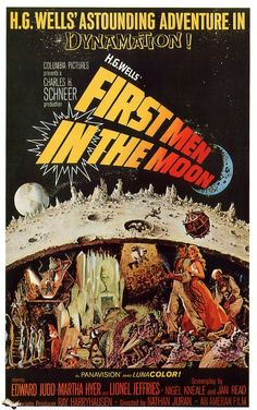 First Men in the Moon British horror film poster, Hammer. Directed by Na… First Men in the Moon British horror film poster, Hammer. Directed by Nathan Juran, starring Edward Judd, Martha Hyer and Lionel Jeffries. Classic Sci Fi Movies, Classic Movie Posters, Original Movie Posters, Movie Poster Art, Horror Movie Posters, Cinema Posters, Image Internet, Image F, Sf Movies