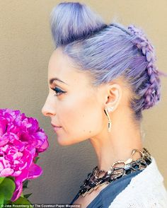 Unicorn hair: Nicole Richie's purple coif gets its first closeup on the cover of Paper magazine, photographed by The Coveteur
