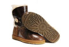 UGG Boots - Bailey Button Pattern - Chestnut - 1872