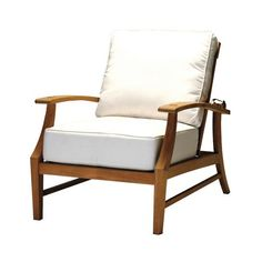 Croquet Teak Recliner with Cushions by Summer Classics